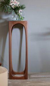 Soporte para pedestal / florero FIDA, Pedestal en madera maciza y mármol.