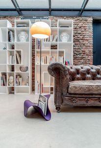 FLY, Sostenedor del compartimiento de metal curvado y cuero, para el hogar y la oficina