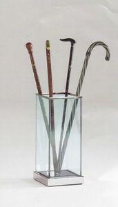Glass, Paragüero hecho de vidrio y acero, para el hogar y la oficina