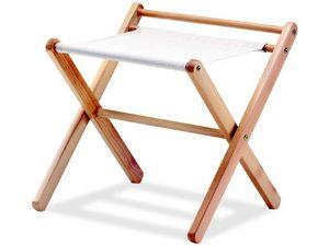 Portavalige P, Suitecase pie en madera de haya y material de la tela