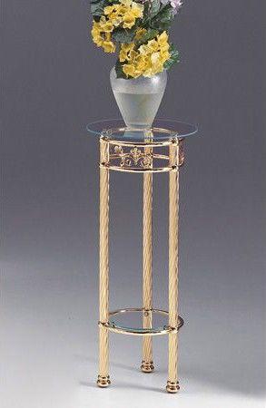 VIVALDI 1094, Columna de latón con tapa de cristal, para el hogar