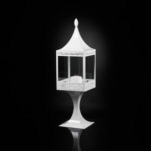 Top Light of Sultan with Base, Farol de acero blanco