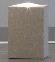 Pollicina, Lámpara para el hogar, hecho de piedra, iluminación dicroica
