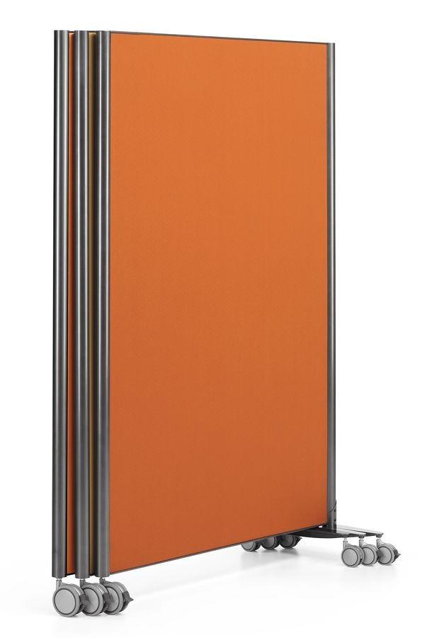MULTIKOM 3000, Panel sobre ruedas, en madera contrachapada y acero pintado