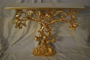 ÁRBOL CONSOLA ART. CL0062, Consola en forma de Árbol, tallada a mano, dorado