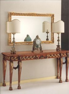 2790 CONSOLA, Consolle en madera tallada, de estilo clásico y lujoso