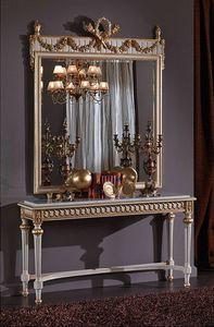 3425 CONSOLE, Consola con tapa de mármol, en estilo Luis XVI