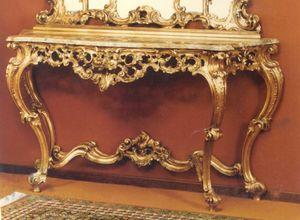 560 Consola, Consola de estilo barroco con tapa de mármol