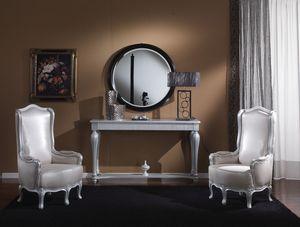 717 CONSOLA, Mesa consola con cajón ideal para entornos residenciales clásicos