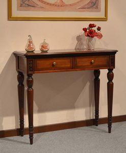 Alice consola , Consola clásica de lujo en madera, con 2 cajones