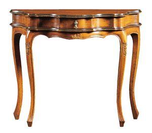Annalisa FA.0005, Consola barroca con cajón central, para ambientes de estilo clásico