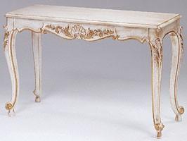 Art. 365 Mary, Consolle decorado de madera, encimera de mármol, para las entradas