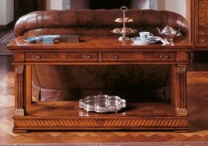 Art. 776/BF, Consolle con dos estantes de madera, de estilo clásico