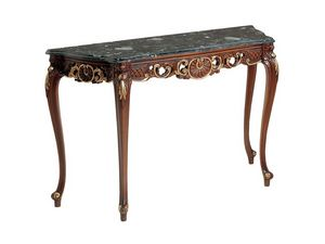 Art. 900, Consola de madera, madera de nogal acabado, tapa de mármol