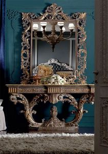 Barocchetto consola, Consola barroca llena de tallas