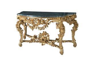 CONSOLA ART. CL 0002, Consola tallada en estilo barroco, de hoteles de lujo