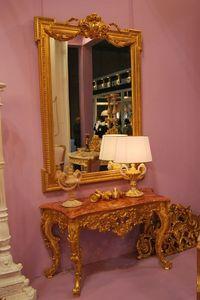 CONSOLA ART. CL 0004, Consola tallada y decorada a mano, en el estilo de Luis XVI