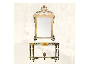 Console art. 203, Consolle con acabados de oro, estilo Luis XVI