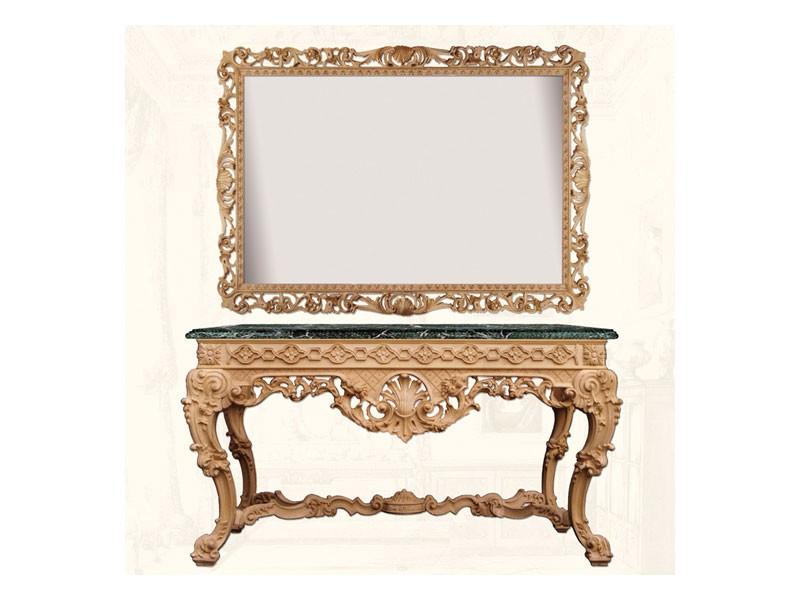 Console art. 249, Consolle de madera decorado con cuernos de la abundancia