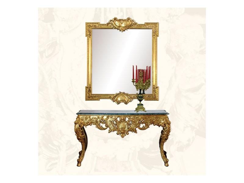 Console art. 251, Consolle hecho de madera decorado, estilo ruso