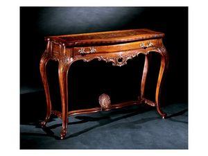 Console console 714, Consola clásica de lujo en madera tallada