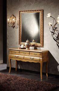 Doroty Consola, Mesa consola de madera con cajones