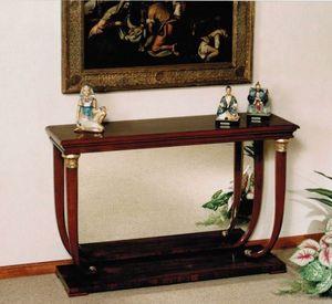 M 400, Consola de estilo imperio con sobre de madera o mármol.