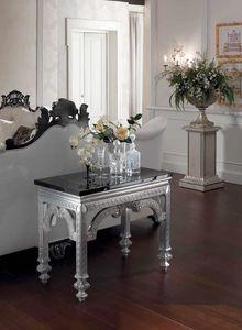 Opale console, Consola con encimera de mármol negro.