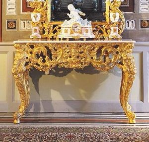Opera console, Consola clásica de lujo, talladas a mano por maestros artesanos italianos