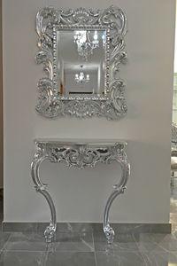 Sensual consola, Consola de estilo barroco, en madera maciza tallada