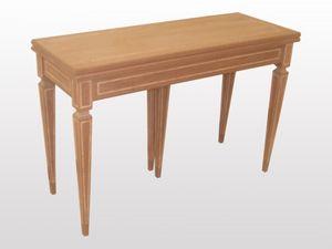 Spencer, Consola clásica de madera, extensibles, piernas pirámide