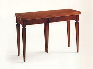 Wilburn, Consola extensible de madera, nuez chapeada