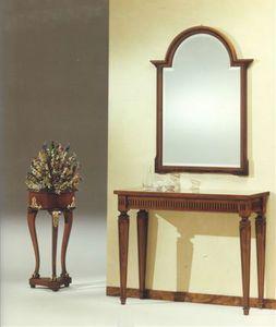 2555 CONSOLLE, Consola clásica de lujo, en madera maciza tallada a mano