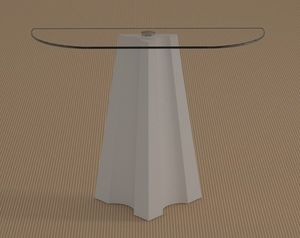 Agape, Mesa consola con tapa en forma de media luna.