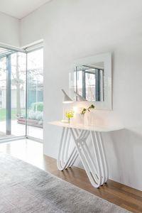 ARPA, Consolle estilo moderno en madera con tapa de cristal, para el ingreso