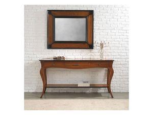 ASTRID consolle 8366K, Consolle estilo clásico de madera maciza con cajones