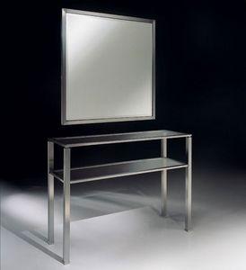 DOMUS 2190 CONSOLE, Consola moderna de metal para sala de estar
