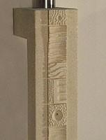 Etnica console, Los muebles para la entrada con piedra pilar