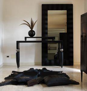 Righello, Clásico de la consola de madera y metal, con elegantes salones