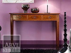 Vivre Lux consola, Mesa consola con cajones, en madera maciza