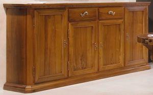 '500 170, Aparador de estilo clásico, en madera de nogal