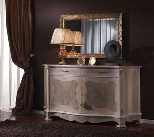 3640 CREDENZA, Aparador clásico ideales para salas de estar y comedores