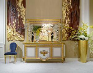 Aparador estilo Luis XVI 1440, Aparador clásico con incrustaciones florales.