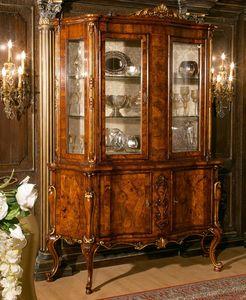 Art. 1082, Aparador de madera de nogal con puertas de cristal, estilo de extremo 700