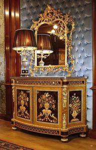 Art. 128, Aparador para salas prestigiosas, decoradas con tallados a mano, con incrustaciones de estampado de flores