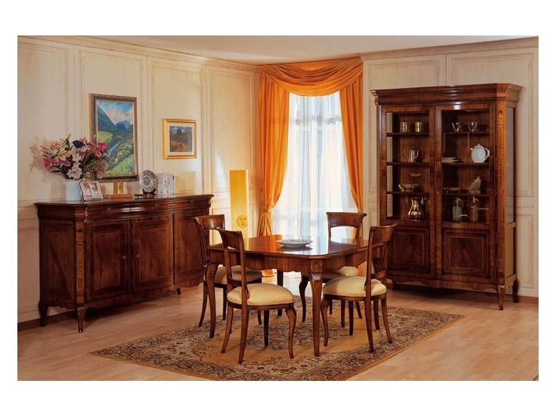 Art. 903 sideboard '800 Francese, Aparador Incrustaciones, de lujo, para el comedor