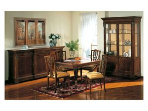 Art. 962 sideboard Carlo X, Aparador de estilo clásico, con incrustaciones, para sala de estar