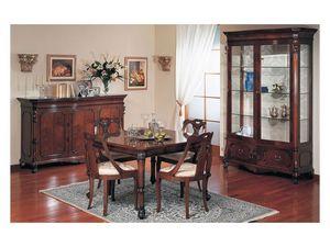 Art. 972 sideboard '700 Siciliano, Aparador con estilo clásico de lujo, madera tallada, de sala de estar