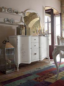 Carpi alacena, Armario de estilo clásico, con decoraciones hechas a mano
