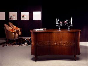 CR18 Godet aparador, Aparador clásico en dobladas madera, decoraciones de brezo